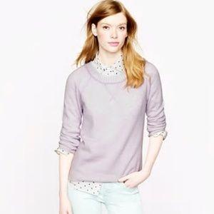 J.Crew Collection cashmere plaited sweatshirt Mint